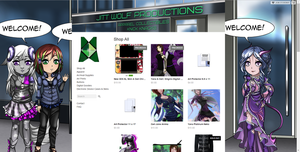 New store background and banner by JittWolfProductions