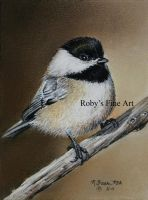 """Chickadee"" - Realism by robybaer"