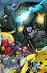 Godzilla vs The Transformers by KaijuSamurai