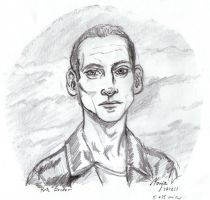 9th Doctor - Speed Sketch by Maija