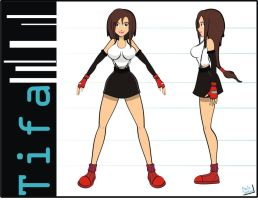 Tifa model sheet by Captain-Paulo