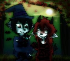 |:.trick AND treat.:|[contest entry] by WaffIo