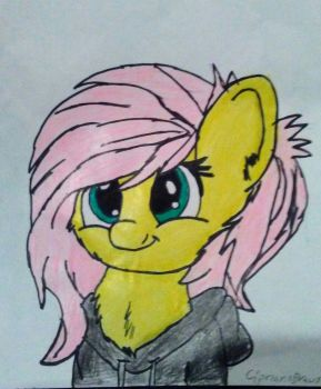 Fluttershy being cute again ^^ by CiprianoDraws