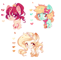 Fall Pony Adoptables by Ipun