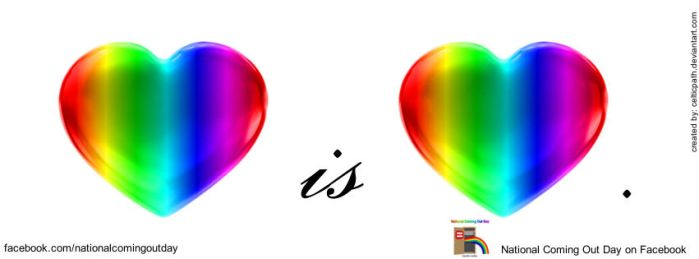 love is love. NCOD FB cover by celticpath
