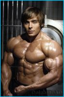 MuscleMorph: Zac Efron 1 by dolphinbad