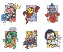 MARVEL UNIVERSE 2014 #049-054 by thecheckeredman