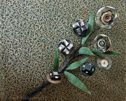 Button Bouquet by hummbuzz