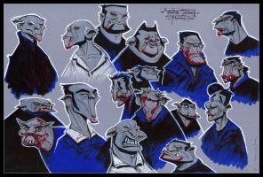 Vampire Head Sketches 03 by Cre8tivemarks