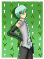 Mikuo and leek by LadyGalatee