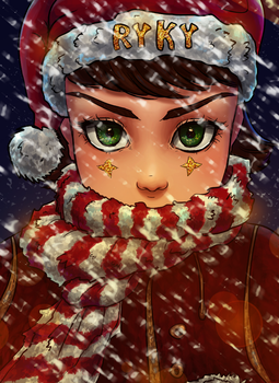 Christmas Coloring Contest Entry by wawa711