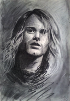 Kurt Cobain Charcoal portrait by fantoNN