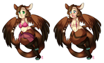 Swimsuit Chibis for ManjiLuo by MagicalZombie