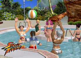 Street Fighter Girls_Pool XNALARA by simpleguyfa