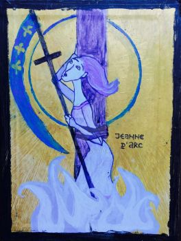 St. Joan of Arc - Icon by ViolaCaeli
