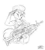 Army Fox (Comm'd) by EpicTones