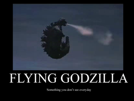 Flying godzilla demotivator by hellkite527