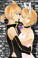 Len and Rin Kagamines by GabbyPineTree