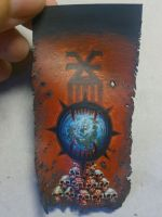 World Eaters banner for 40k by Wideen