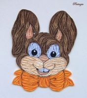 Quilled bunny by pinterzsu