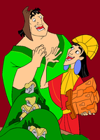 Kuzco & Pacha by cartoon-girl-2010