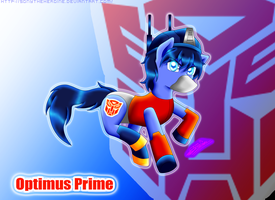 A-T Pony Optimus Prime by Sonytheheroine