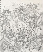 Slayers Club Contest Line Art by AmberPalette