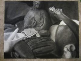 charcoal still life by sunfoot