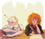 Scorpius + Rose by clarinking