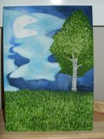 Wooden painting 0001 by Yoru-Vampire