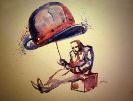 watercolour - homeless by IronMaiden720