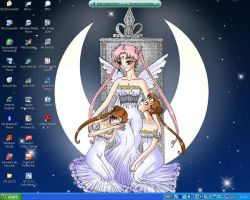 Twin Princesses Desktop by UnseenVision
