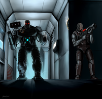 Quake 2 - Tank vs Marine by OuterKast