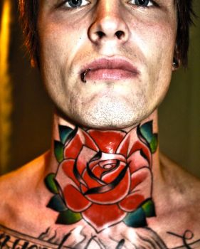 throat tattoo by Unibody