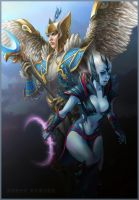 DotA 2, Skywrath Mage n' Vengeful Spirit by DariaDesign