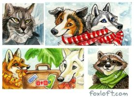Watercolor Icon Batch 1 by Foxfeather248