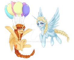 .My Frozen Pony: Royal balloons. by Kikuri-Tan