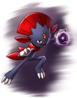 Weavile - Shadow Ball by Kampidh