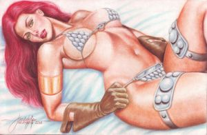 Red Sonja (#7) by J.D. Felipe by VMIFerrari