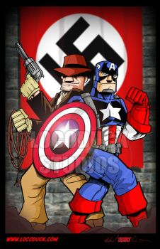 Indy and Cap Save the World by Locoduck