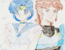 Sailor Mercury + Cye of the Torrent by animaniac21285