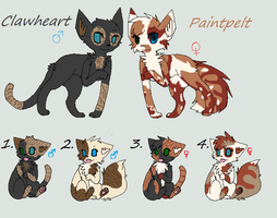 Paintpelt x Clawheart Litter Closed by Sukida-Adopts