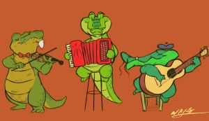 Crocodija Trio by waymonds