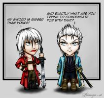 Devil May Cry 3 Chibis by Lienwyn