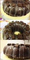 Double Choco Cake by LadyLuck89