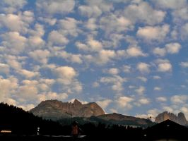 A mackerel sky on Soraga by edelweiss26