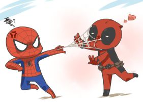 Spideypool_1 by neko1217