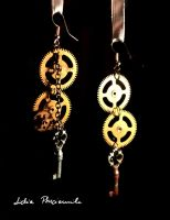 steampunk earrings by lidia-art