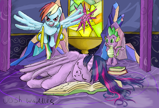 Rainbow's Special Wake-up Call by TheSouthernNerd