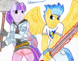 Flash Pilgrim vs. Equestria by The1King